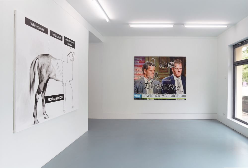 Crypto Rich, installation view at Nagel Draxler Kabinett, Berlin, 2018.