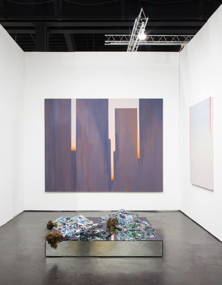 Installation view at NADA Miami, Ice Palace Studios, 2019, alongside Wanda Koop, Mira Dancy, and Robert Nava.
