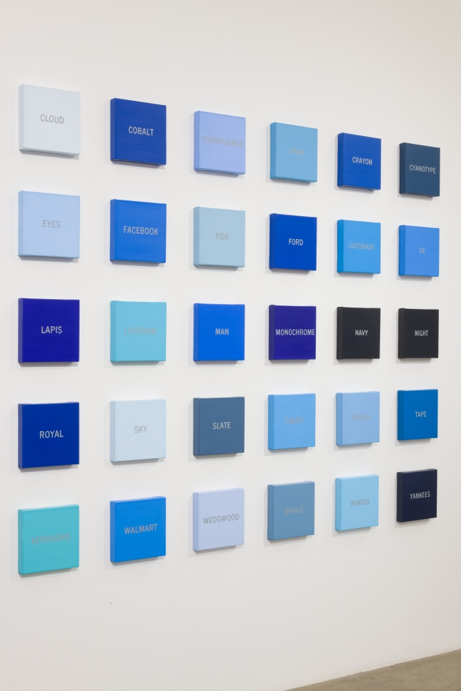 "Cynthia Daignault, ""Blues,"" installation view, 2018."