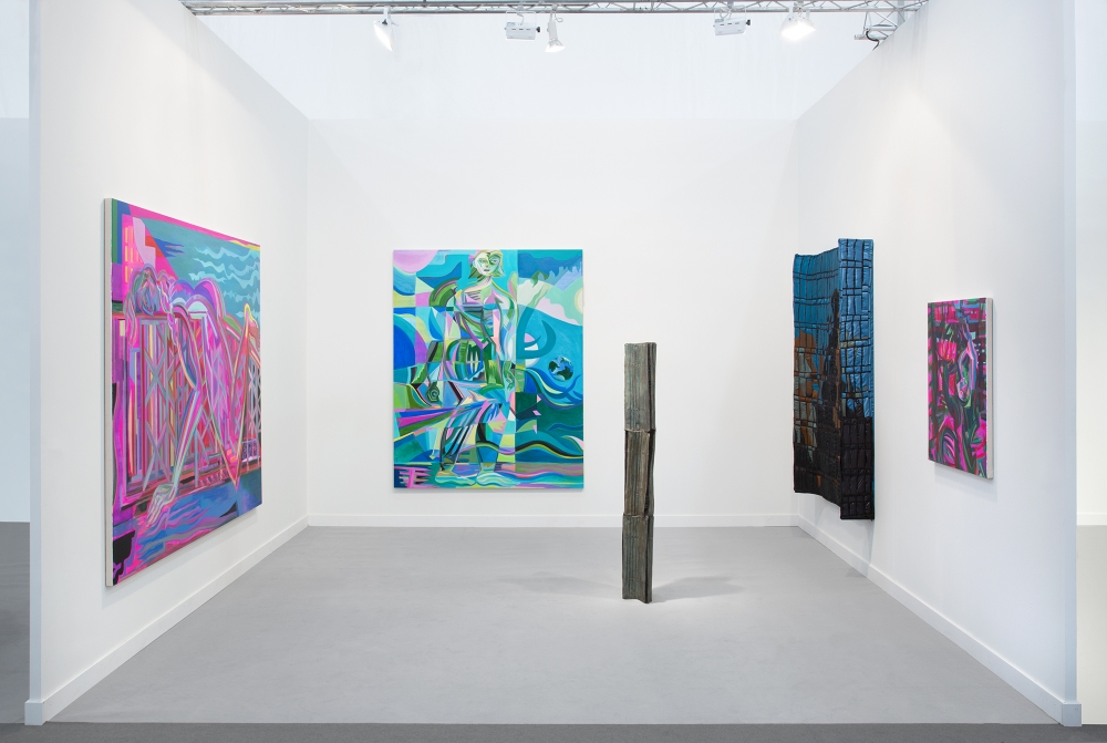 Installation view at Frieze LA, 2020.