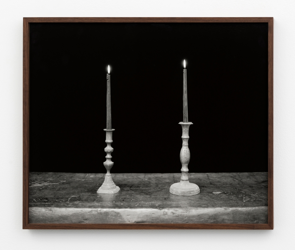 """Two Candles, Black,"" 2018"