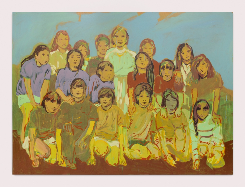 "Claire Tabouret, ""The Soccer Team,"" 2019"
