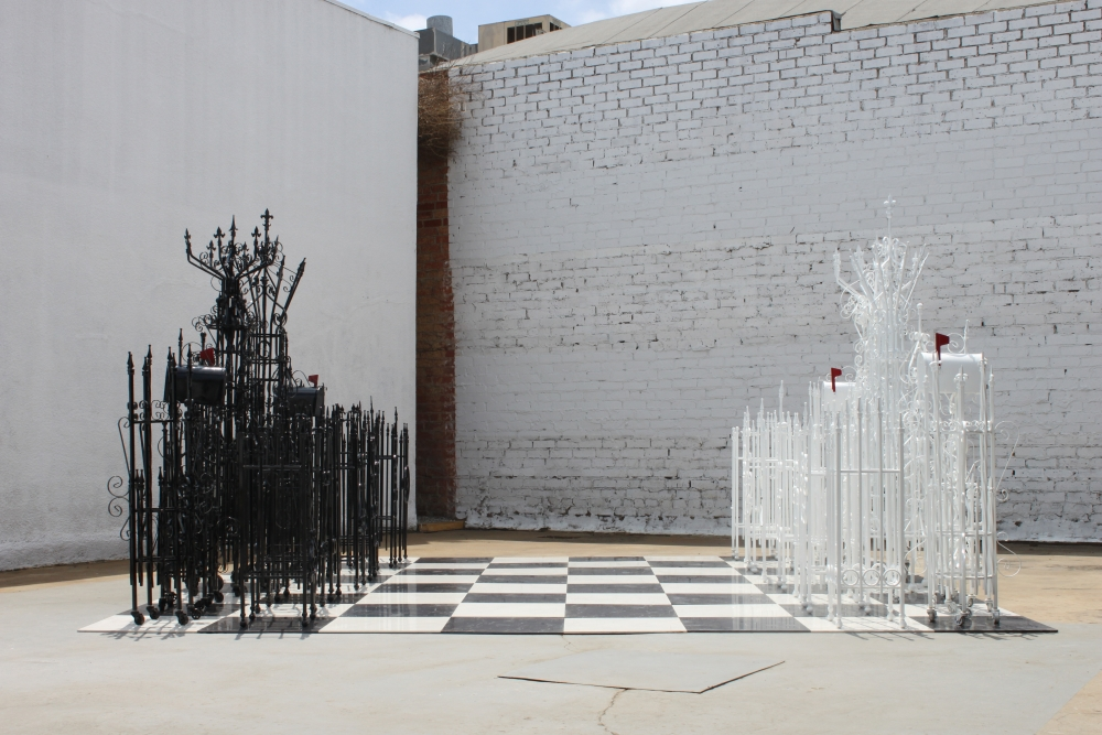 Chess Set, installation view at the WIDE OPEN series for Harmony Murphy Gallery, 2015.