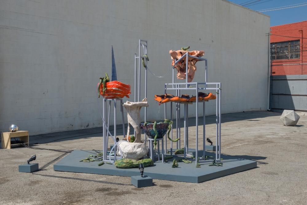 """Roni Shneior & Orr Herz, """"Grammatics Jarr,"""" installation view, 2016"""