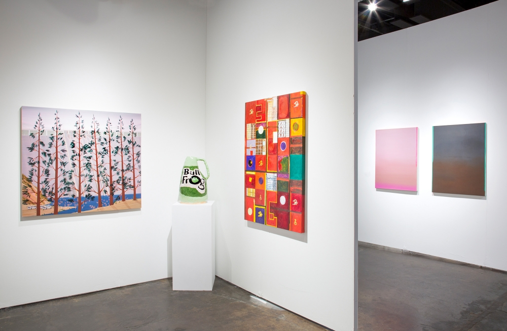 Ian Davis, Grant Levy-Lucero, Marisa Takal, and Wanda Koop, installation view at NADA Miami, 2018.