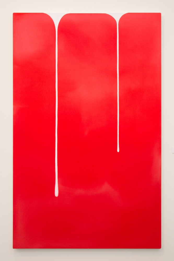"""Spill (Red-White),"" 2018"