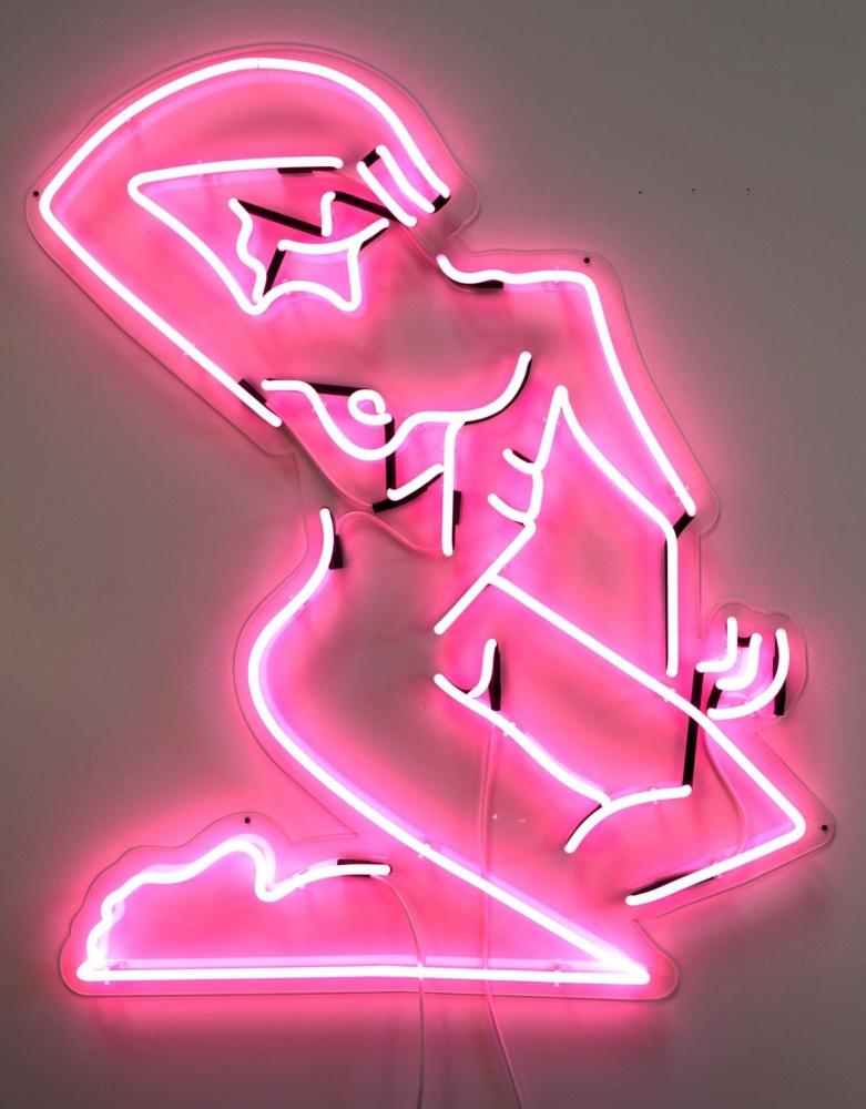 """Mira Dancy, """"Street Ofelia (neon pink),"""" 2014"""