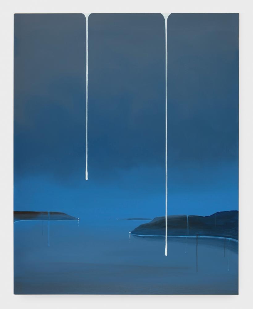 """Wanda Koop, """"Standing Withstanding, blue,"""" 2018"""