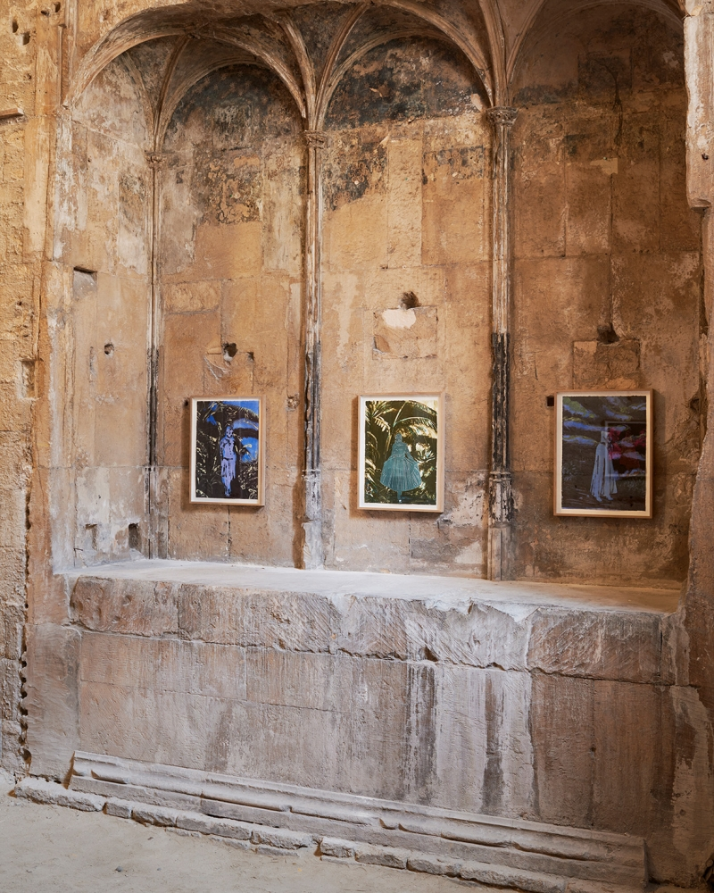 Installation view, L'Errante, as part of the Festival d'Avignon, Eglise des Celestins, Avignon, France, 2018
