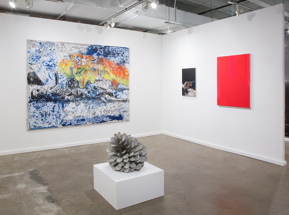 Installation view, Dallas Art Fair, 2018