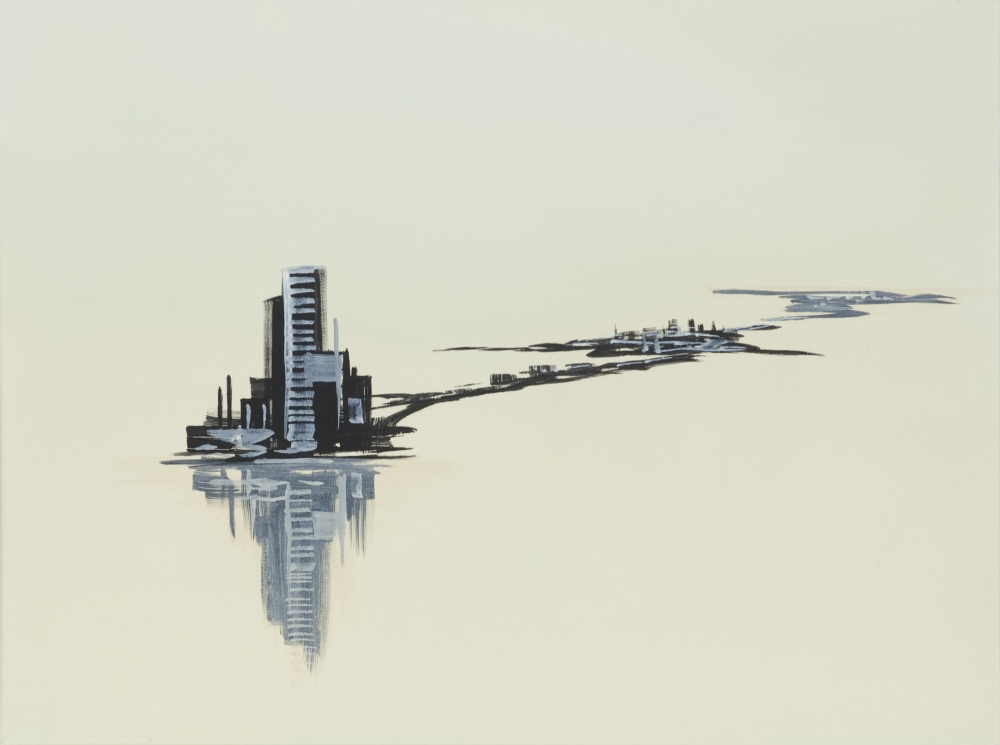 """Satellite Cities (Black and Ivory),"" 2002"
