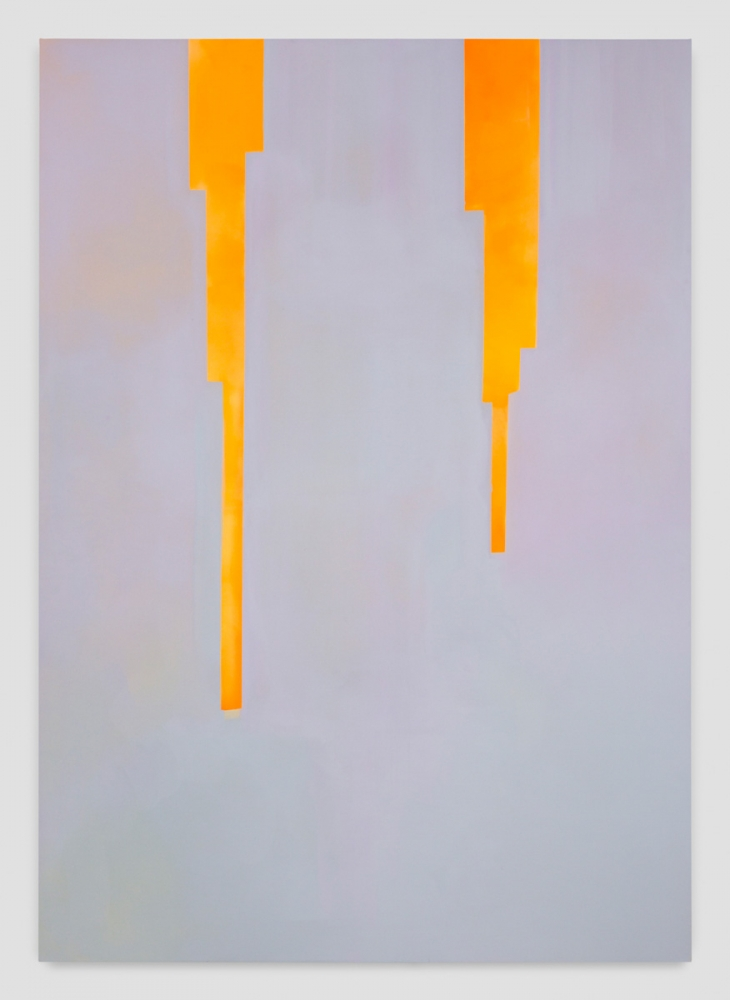 """In Absentia (Luminous Orange Yellow - Blue Grey),"" 2017"