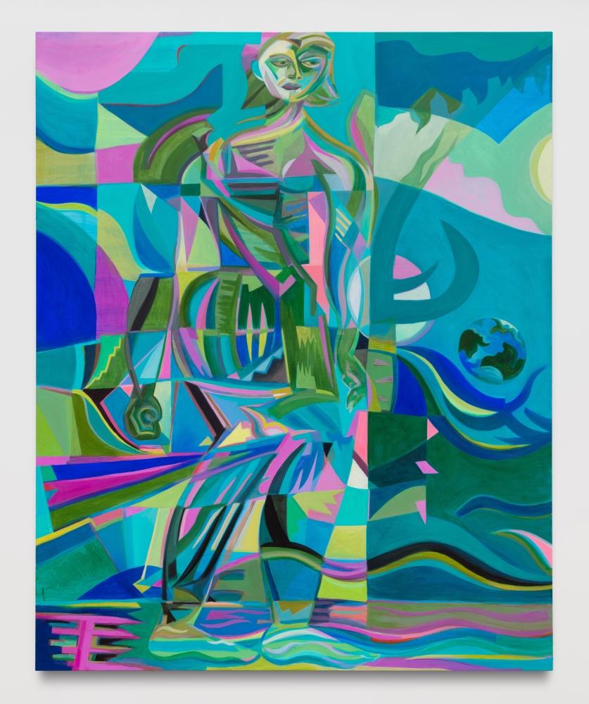 "Mira Dancy, ""Revolving Icon // Fist of Earth,"" 2020"
