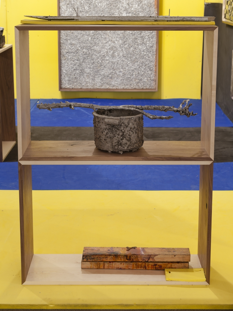 """NS Pot,"" 2015. Installation view at NADA Miami (Martos Gallery Booth), 2015"