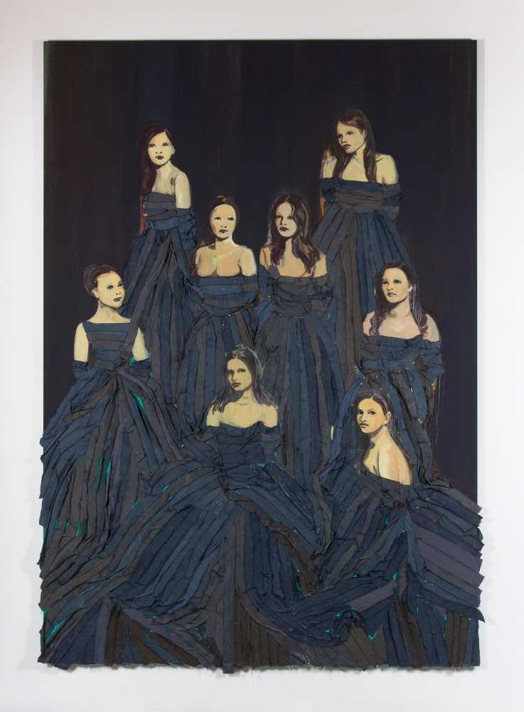 """Les Débutantes (Dark blue),"" 2015"