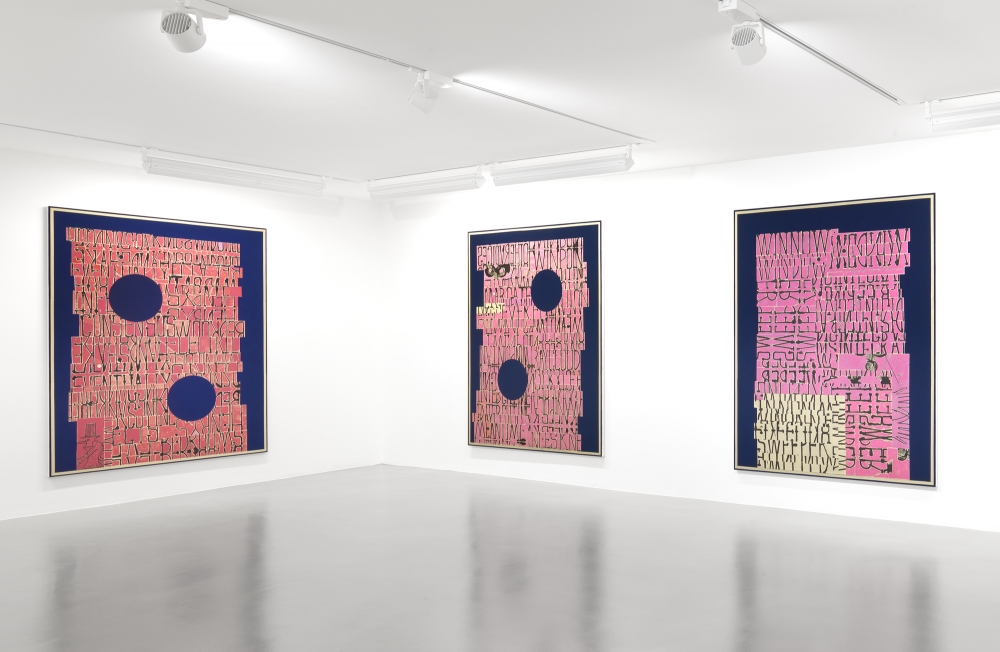 Installation view at Sadie Coles Gallery, 2016