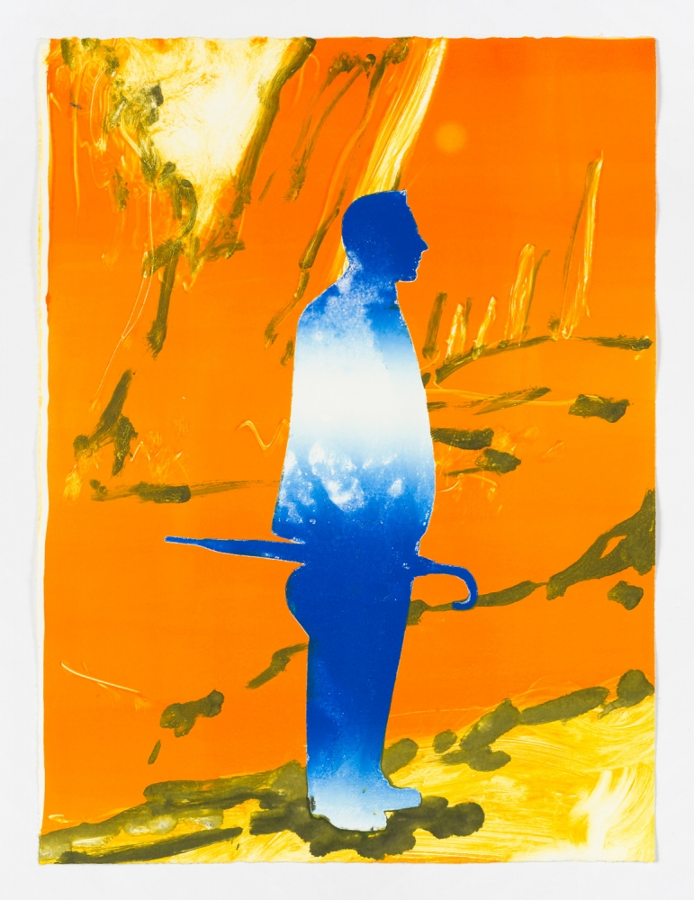 "Claire Tabouret, ""The Walk (orange and blue),"" 2016"