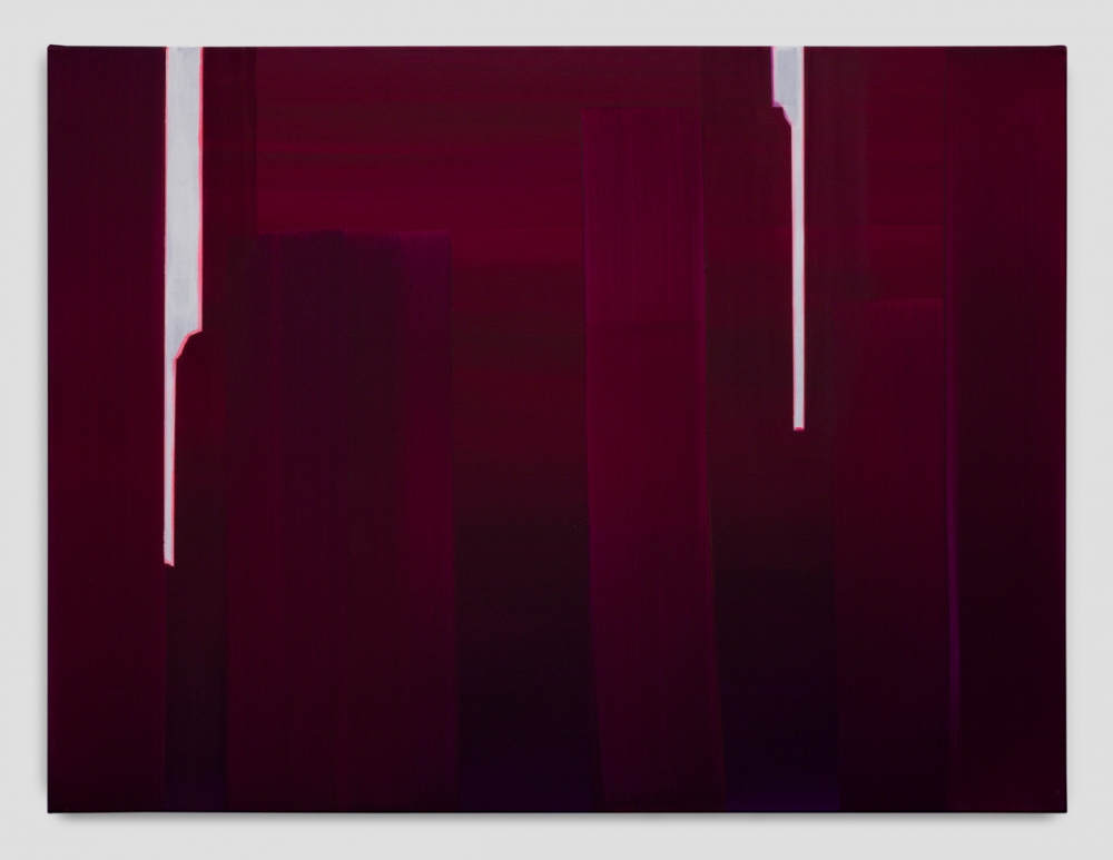 """In Absentia (Deep Magenta - Bright White),"" 2017"