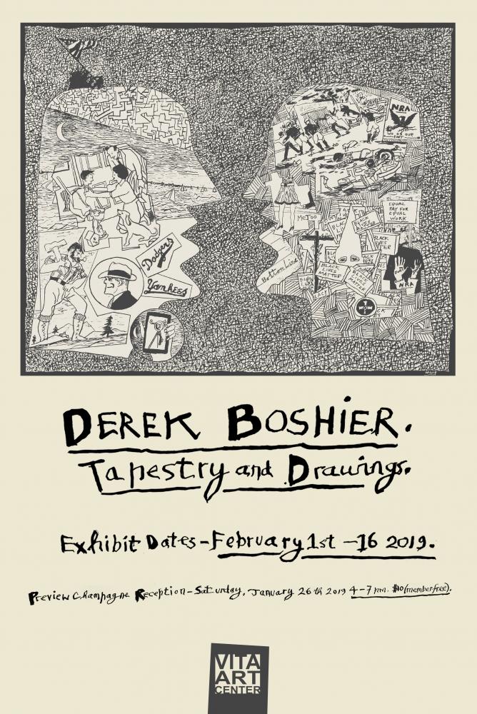 Derek Boshier: Tapestry and Drawings at Vita Art Center
