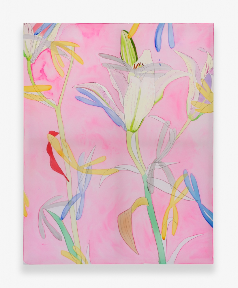 """White Lily on Pink,"" 2015"