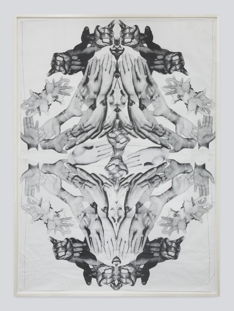 "Kandis Williams, ""The Oratory Command: X Carmichael King Hampton,"" 2016"