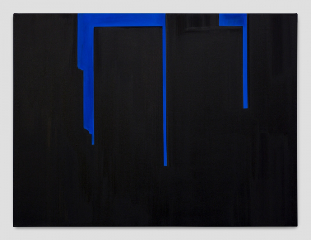 """In Absentia (Tar Black - Deep Blue),"" 2017"