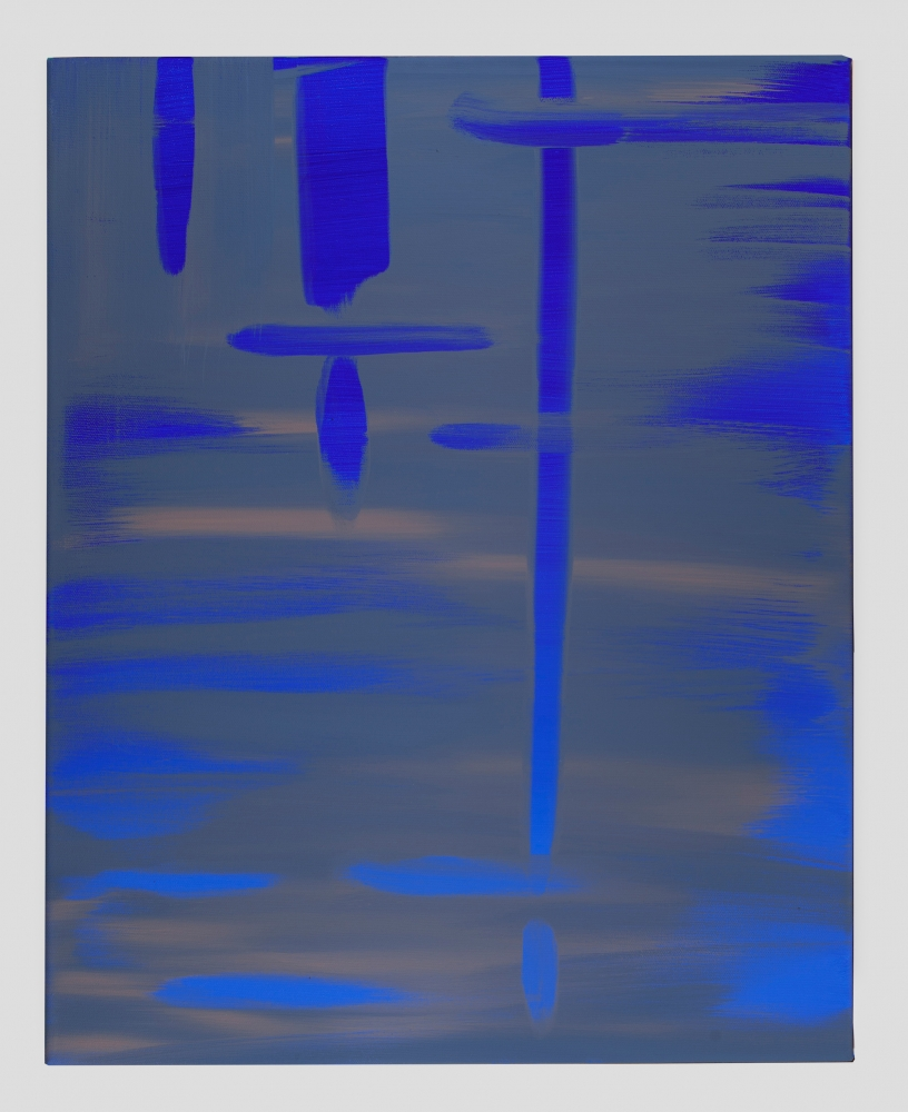 "Wanda Koop, ""Reflect (Ultramarine Deep-Ash Blue),"" 2018"