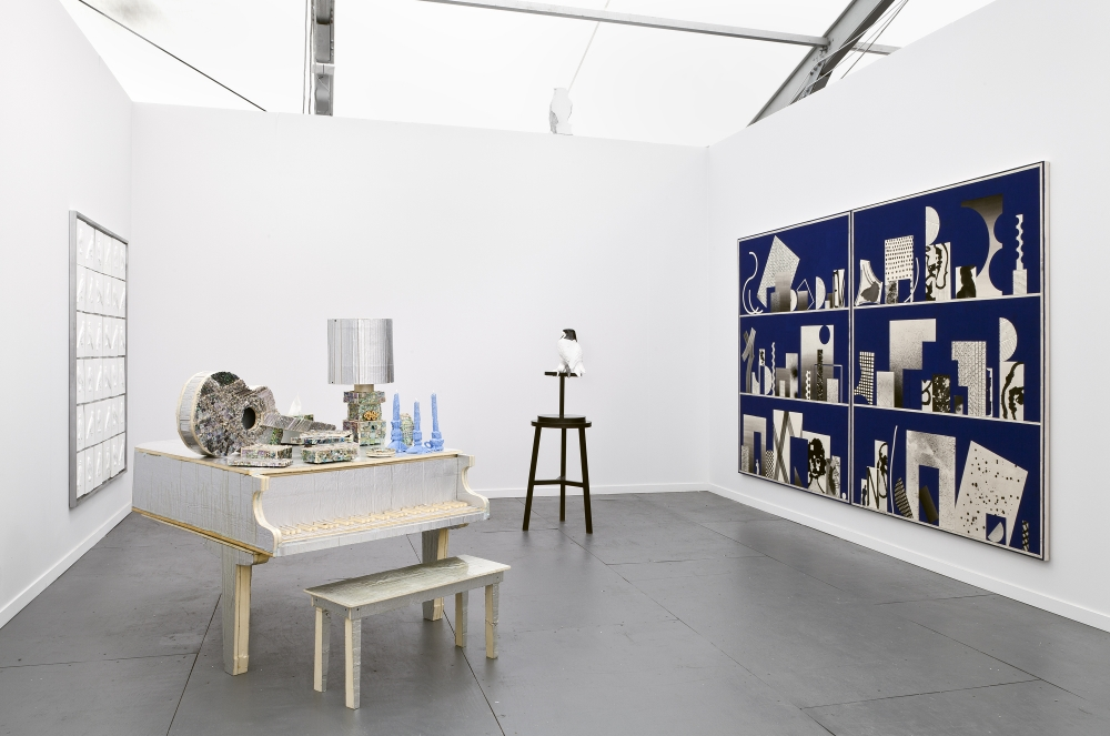 Installation view, Frieze New York, 2014