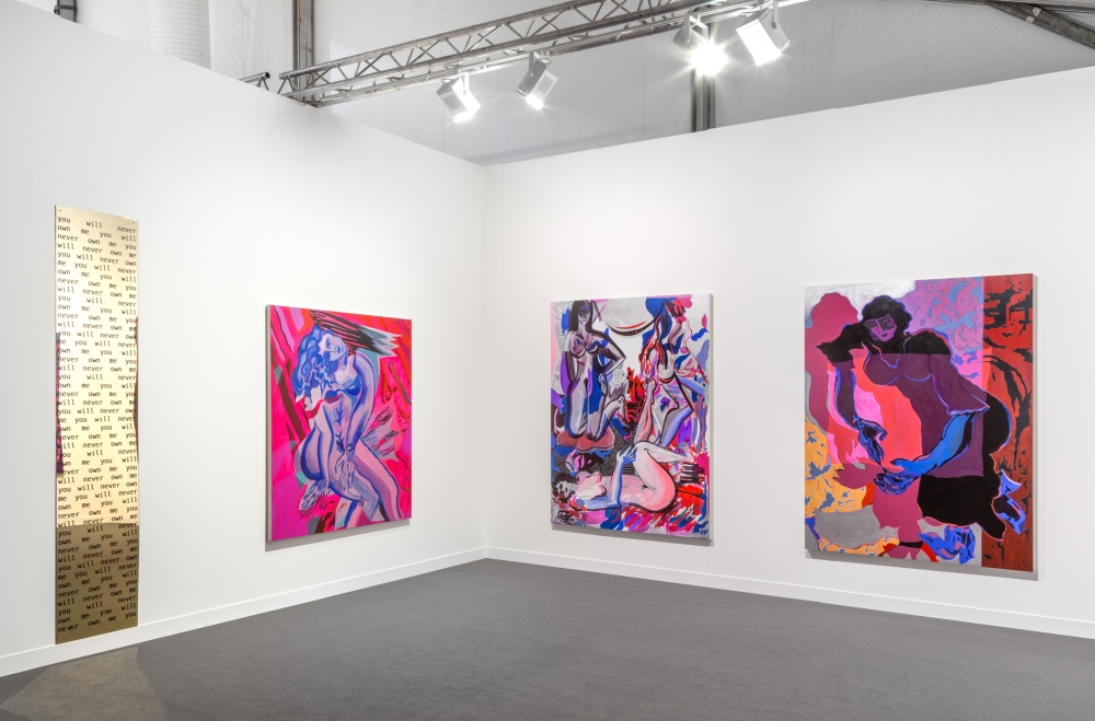 Installation view, Frieze London, 2015