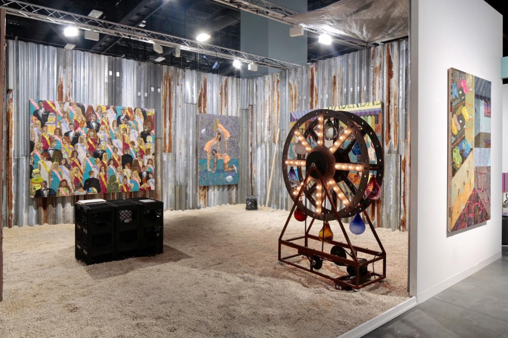 Installation view, Art Basel Miami Beach with Josh Lilley 2018.