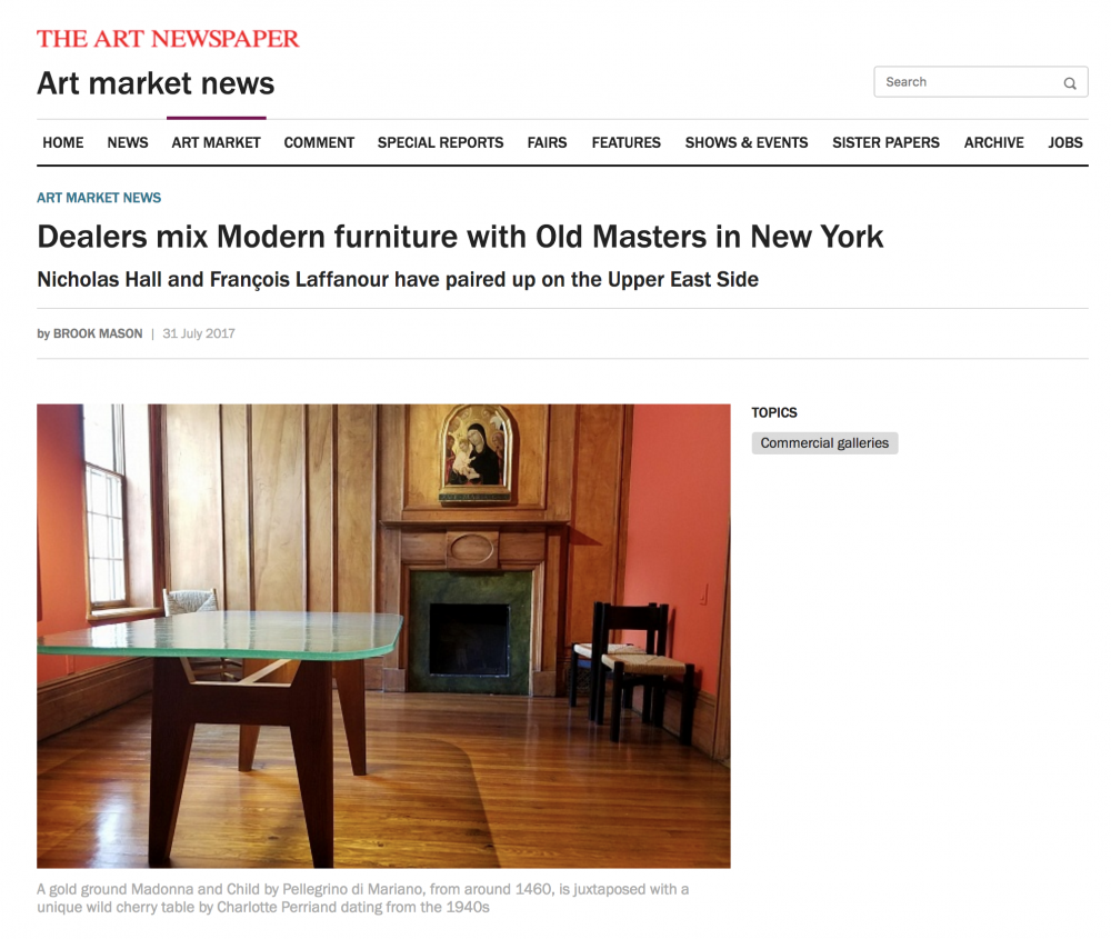 the art newspaper online dealers mix modern furniture with old