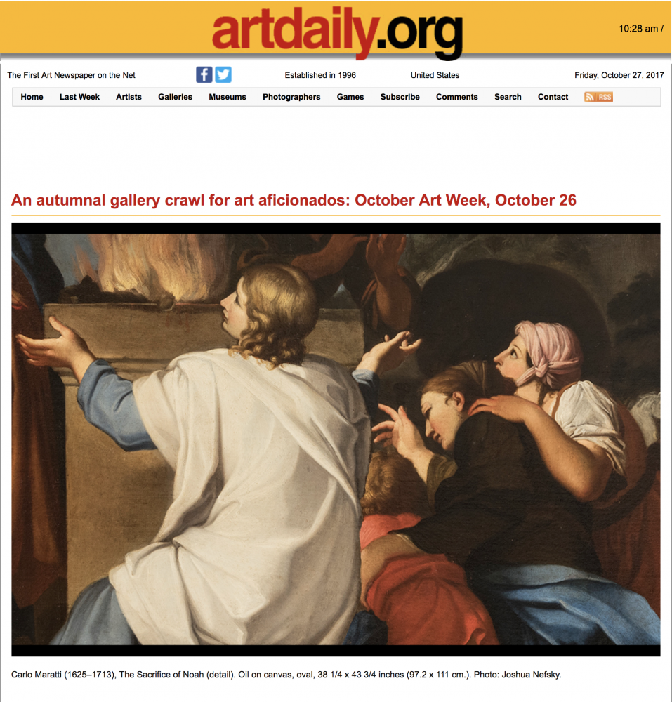 ArtDaily | October Art Week