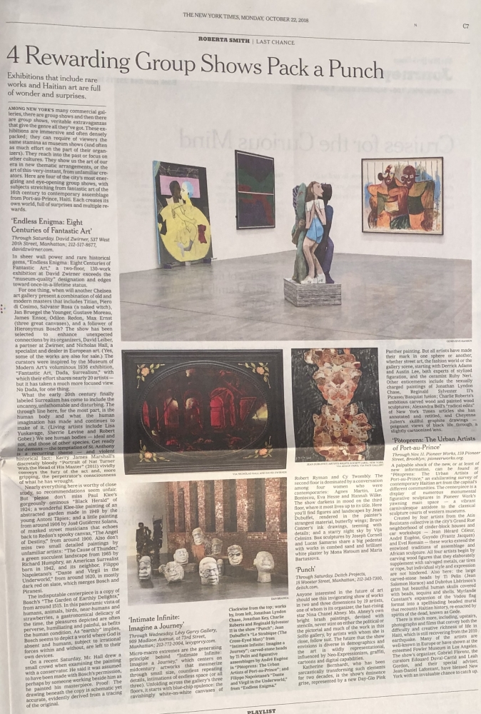 New York Times | Roberta Smith (print)