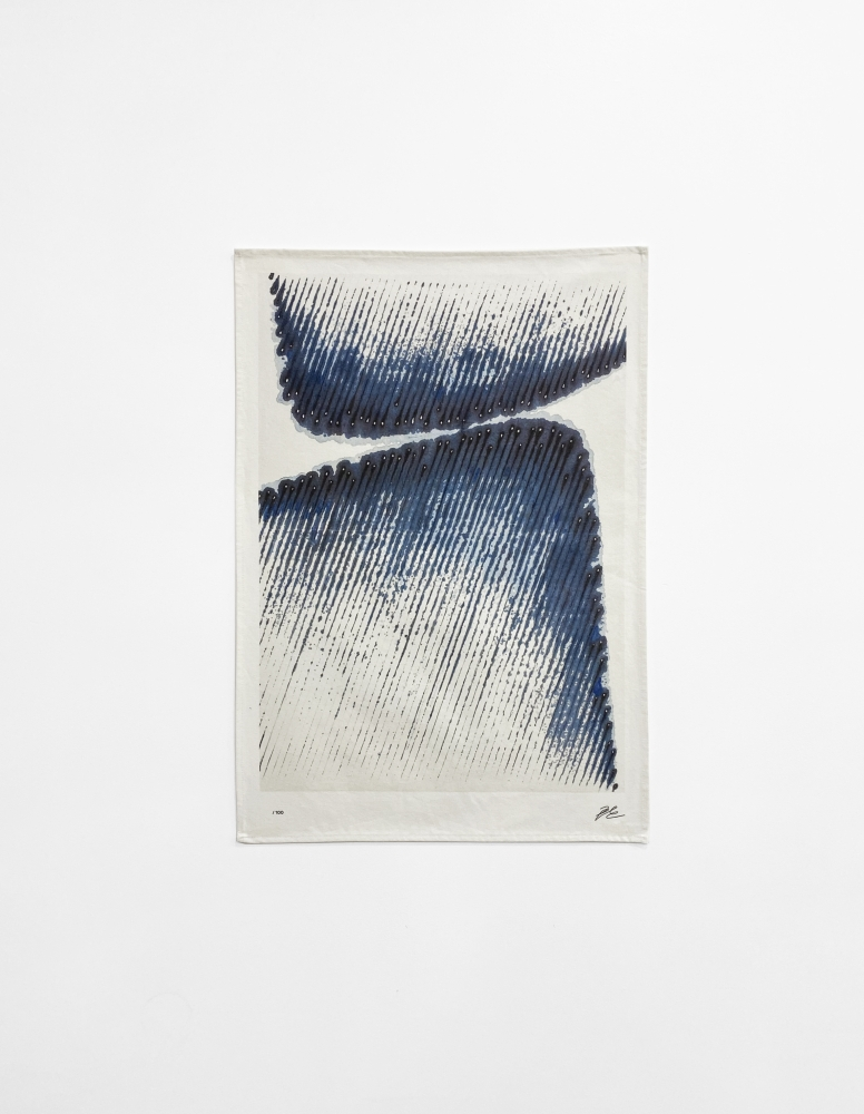 Kwon Young-Woo (1926 - 2013) Untitled (based on Untitled, 1985), 2020 Digital print on tea towel, 100% cotton 27.56 x 19.69 inches 70 x 50 cm Edition of 100