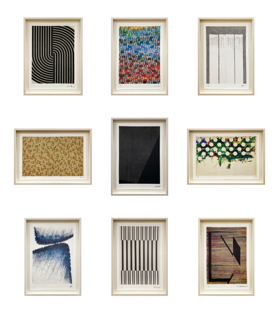 Full set of nine prints from Tina Kim Gallery Presents: Art Without Borders Campaign