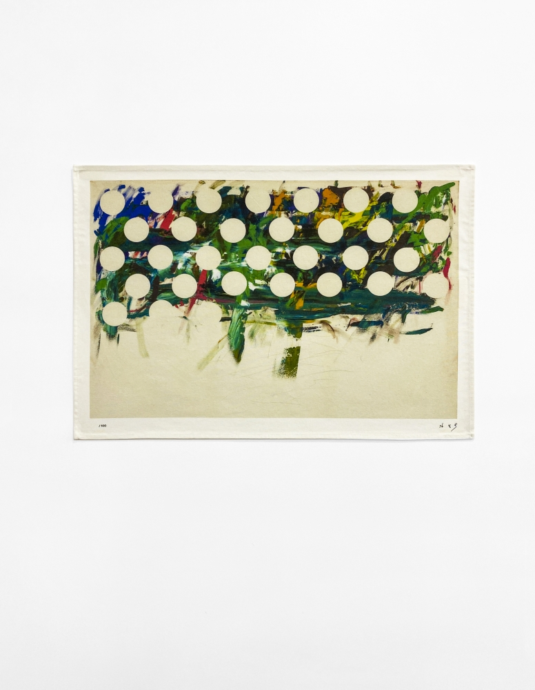 Kim Yong-Ik (b. 1947) Untitled (based on Untitled, 1990-2012), 2020 Digital print on tea towel, 100% cotton 27.56 x 19.69 inches 70 x 50 cm Edition of 100