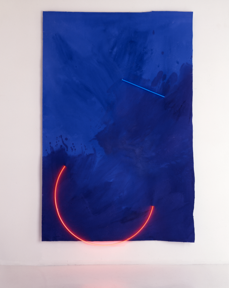"Wadsworth Atheneum Museum of Art Acquires ""Untitled Neon Canvas (for Michael Krichman), 1986 by Stephen Antonakos"