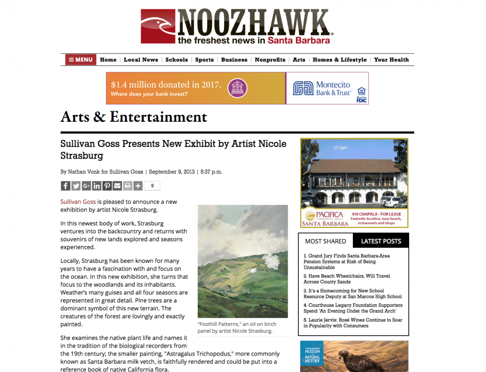 Sullivan Goss Presents New Exhibit by Artist Nicole Strasburg