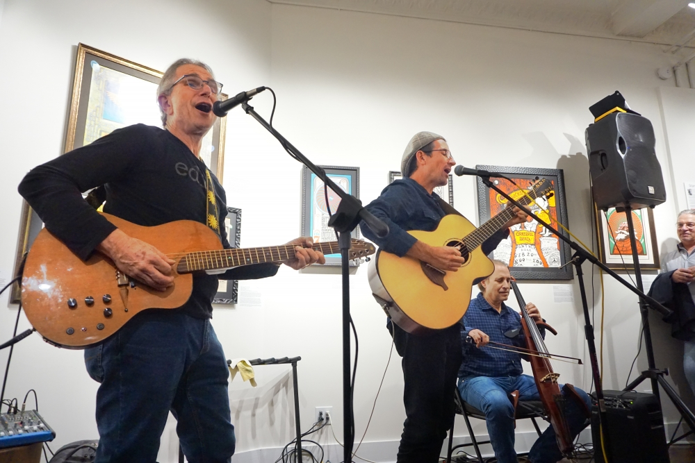 David Gans and Stephen Inglis Rock the Bahr Gallery