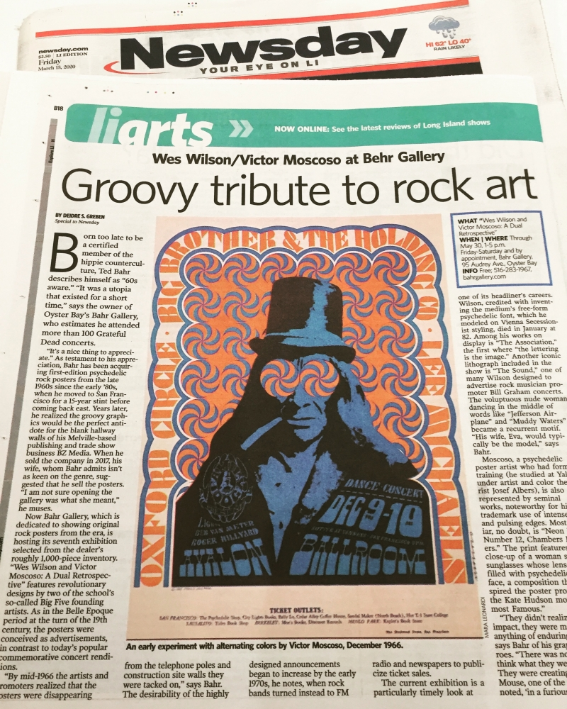 Newsday Covers Wilson/Moscoso Retrospective