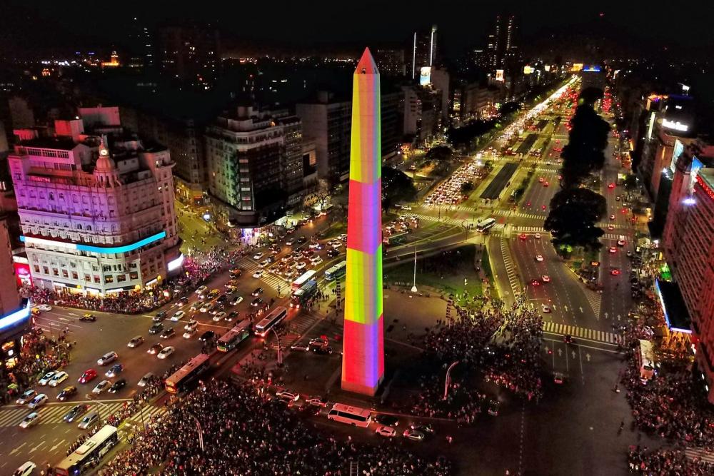 Julio Le Parc @ Obelisco de Buenos Aires, Buenos Aires