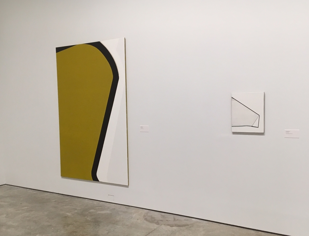 Two of Svenja Deininger's paintings on view at the gallery in New York