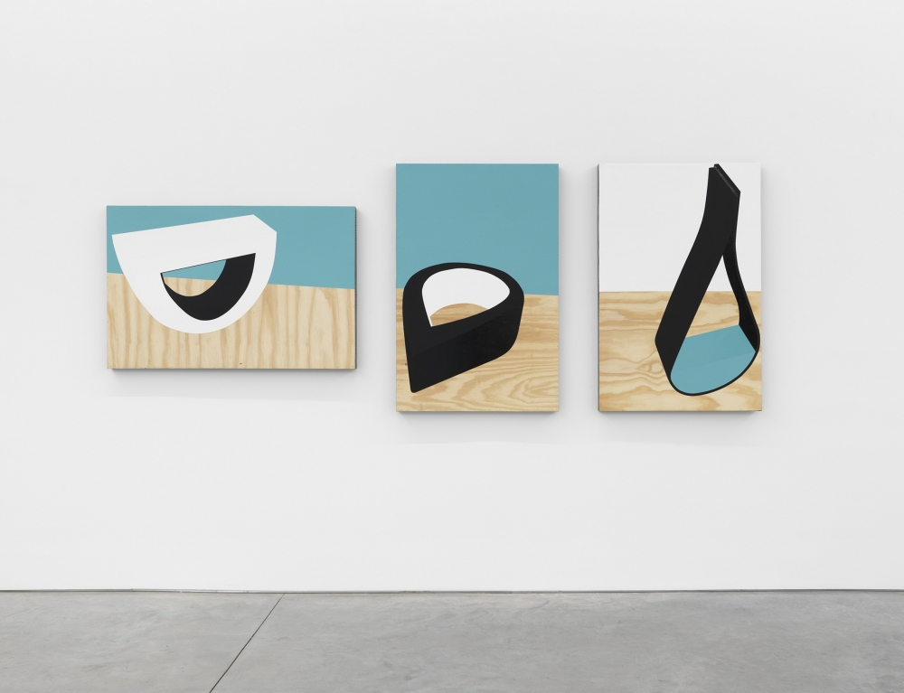 paintings by serge alain nitegeka in a nyc gallery as part of an exhibition