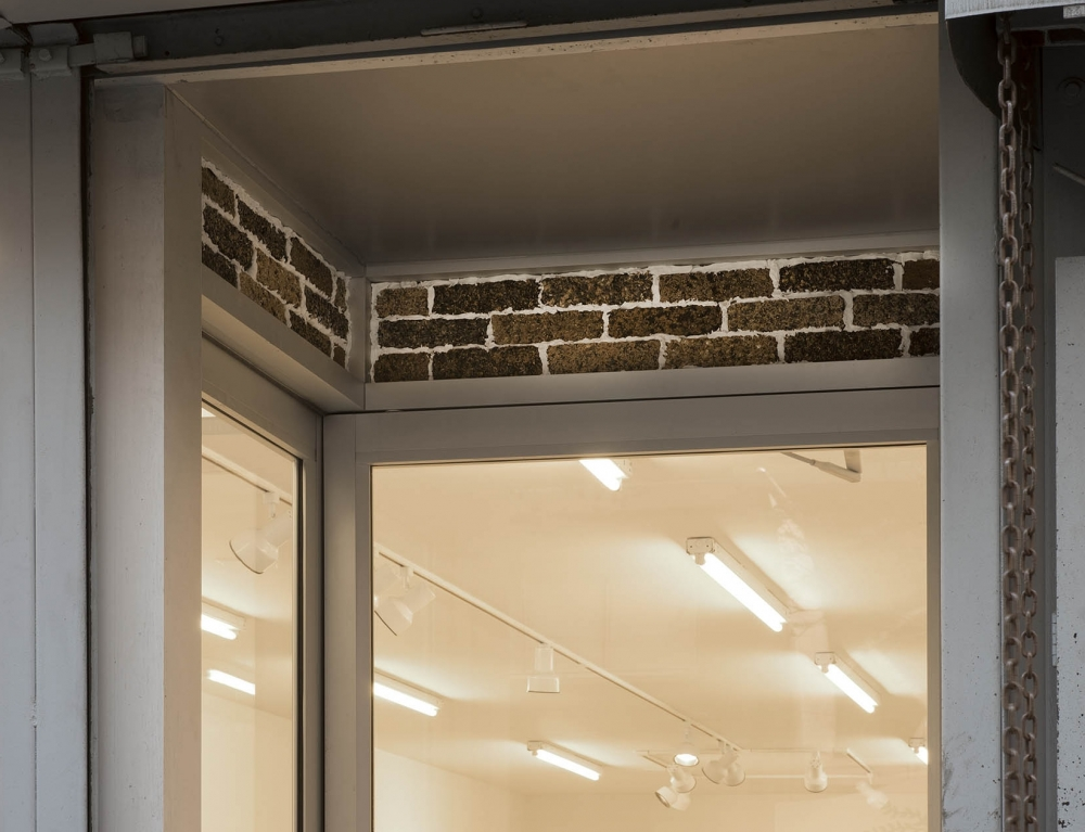 an installation by Bjorn Braun of a birds nest in Marianne Boesky Gallery in Chelsea, New York