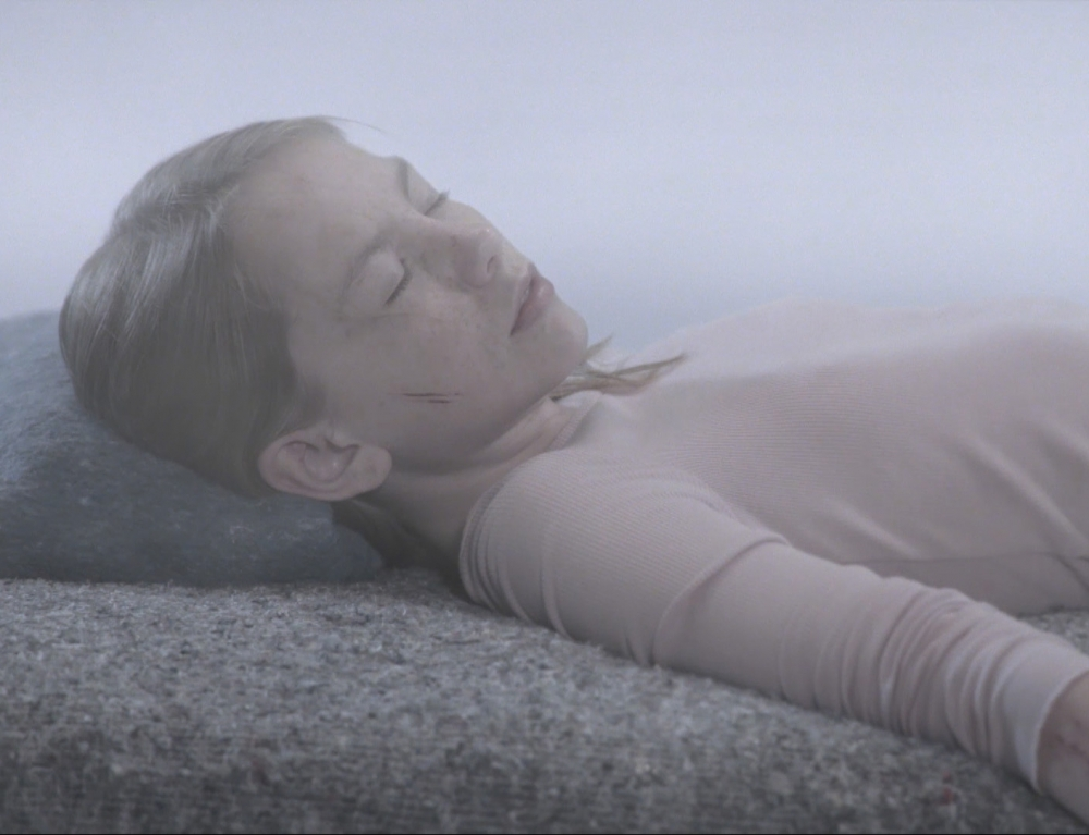 a film still by the artist Hans Op de Beeck as reviewed by Blouin Artinfo