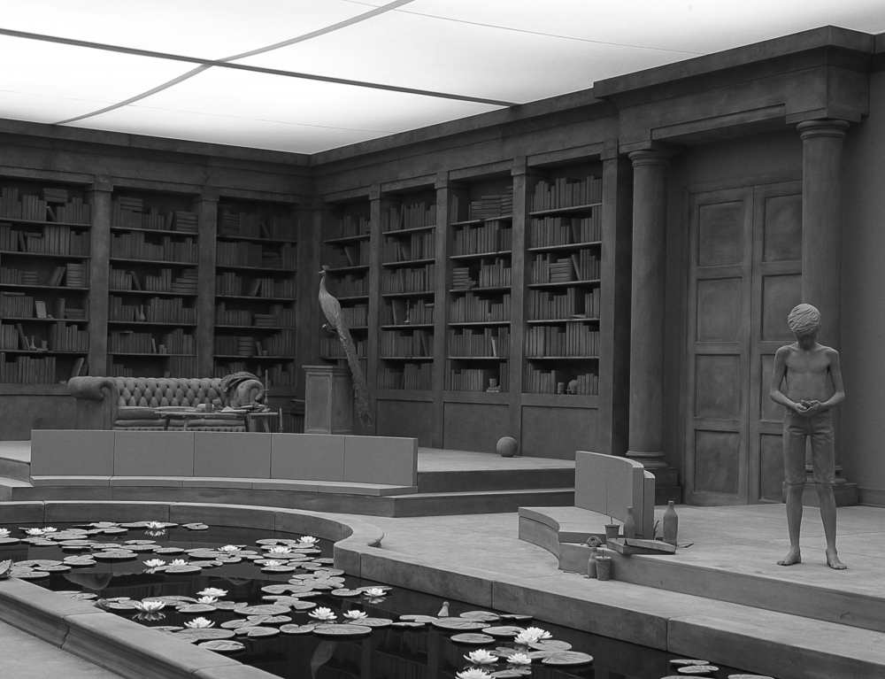 exhibition installation by the artist Hans Op de Beeck that was reviewed in the press