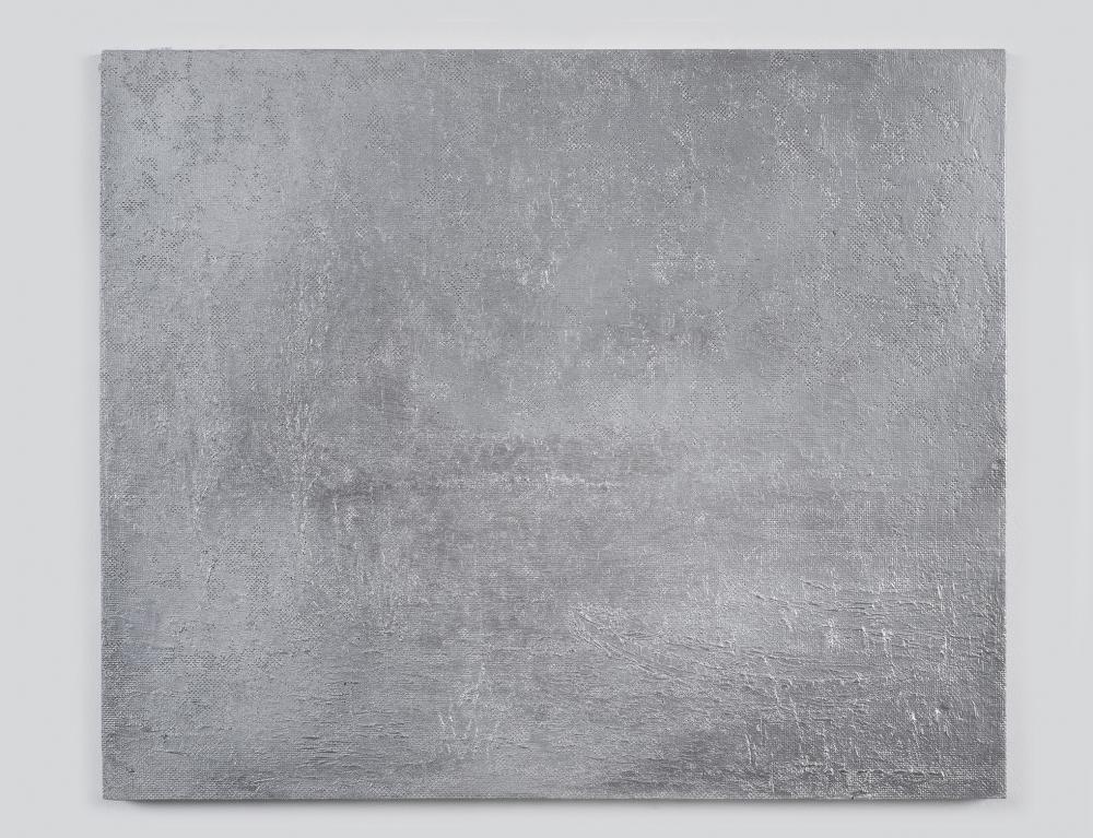 A aluminum work of art by German artist Bjorn Braun as reviewed in the magazine Art in America