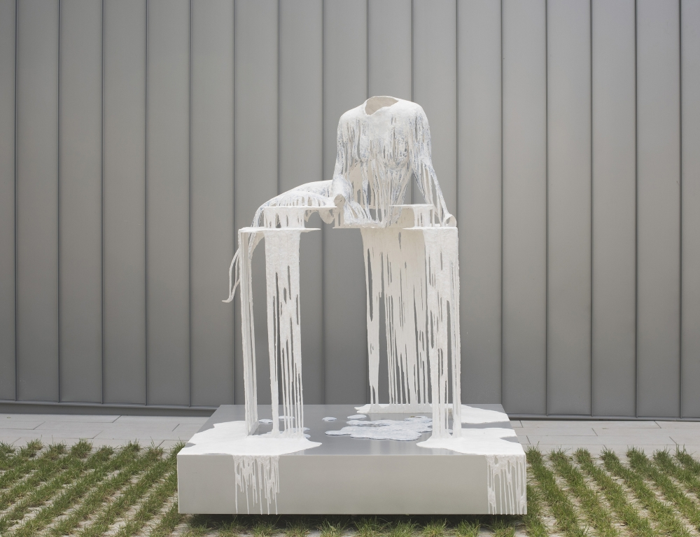 a work of art by Diana Al-Hadid that was reviewed in the New York TImes art section