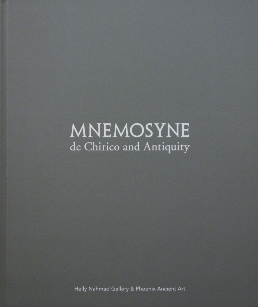 Image of the front cover of the book Mnemosyne which is gray.