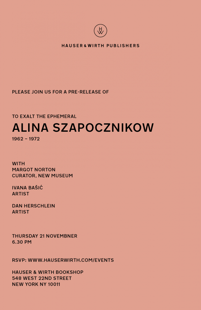 Dan Herschlein Discusses Alina Szapocznikow at Hauser and Wirth